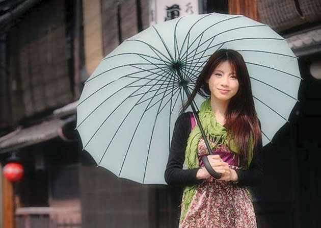 Стильный японский зонт
