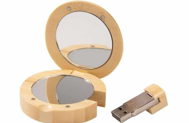 Зеркальце с флешкой