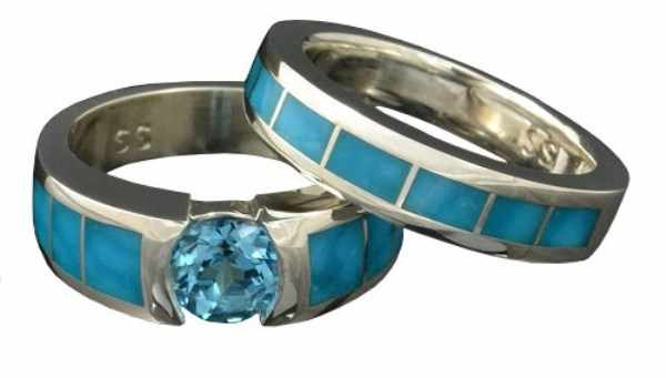 кольца бирюза