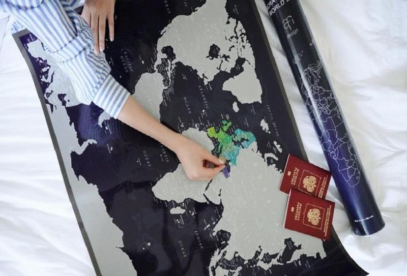 Скрейт-карта мира