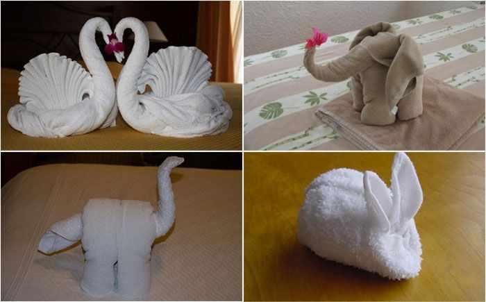 Как оригинально сложить полотенце