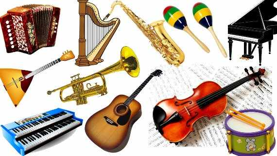 Музыкальные инструменты под елку