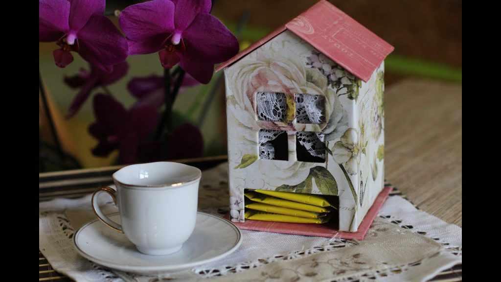 Домик из чая