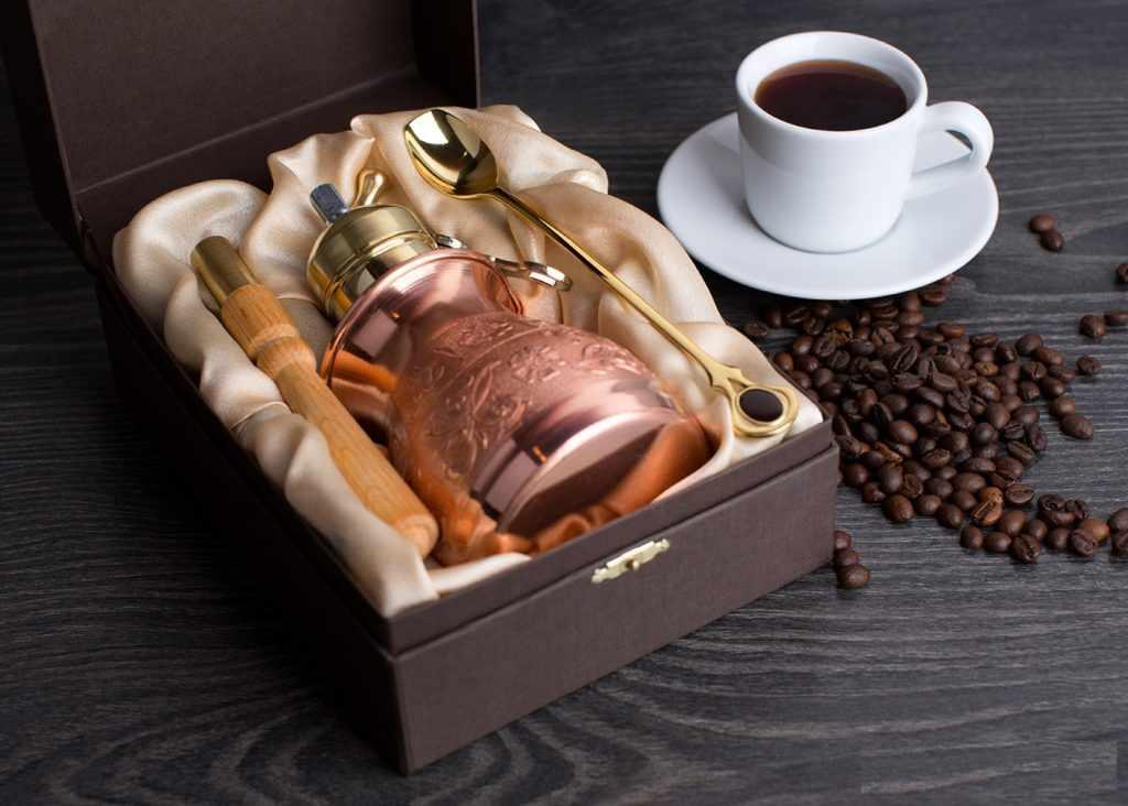 подарочный набор кофе и новая турка