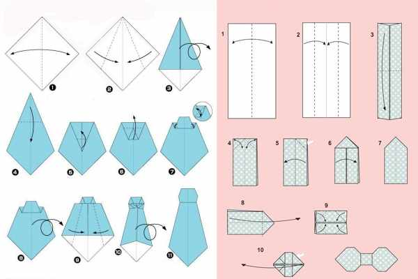 Галстук и бабочка из бумаги