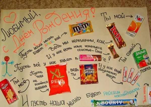 плакат с вкусностями