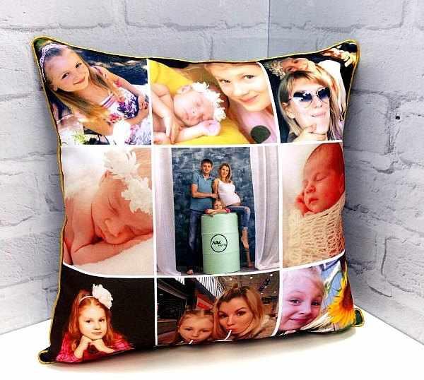 Фотоколлаж на подушке