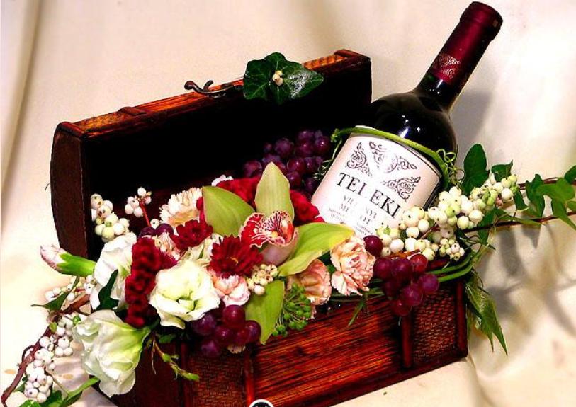 Цветы и алкоголь