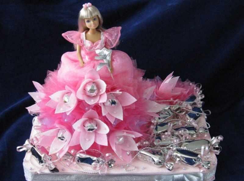 Кукла с конфетами для девочки