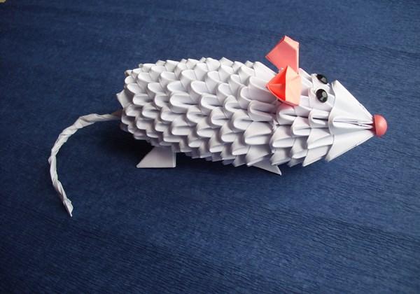 модульное оригами мышь