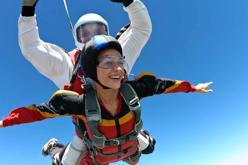 парашют прыжок