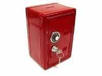 копилка красный сейф