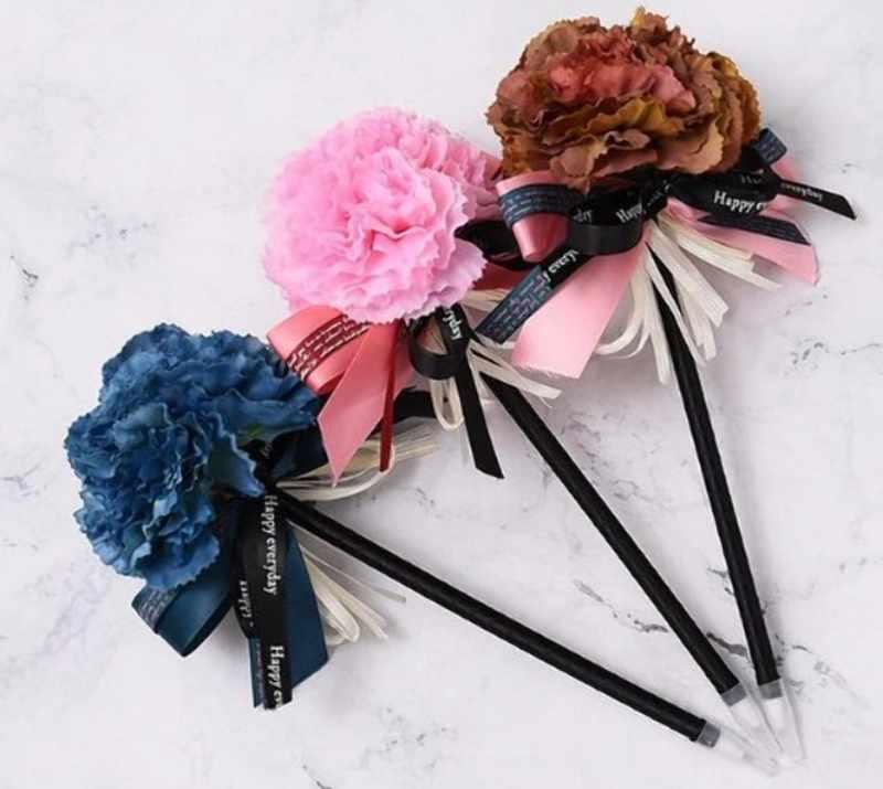 Цветы из карандашей