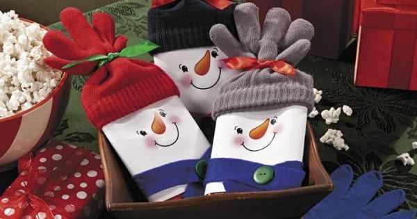 снеговики-шоколадки