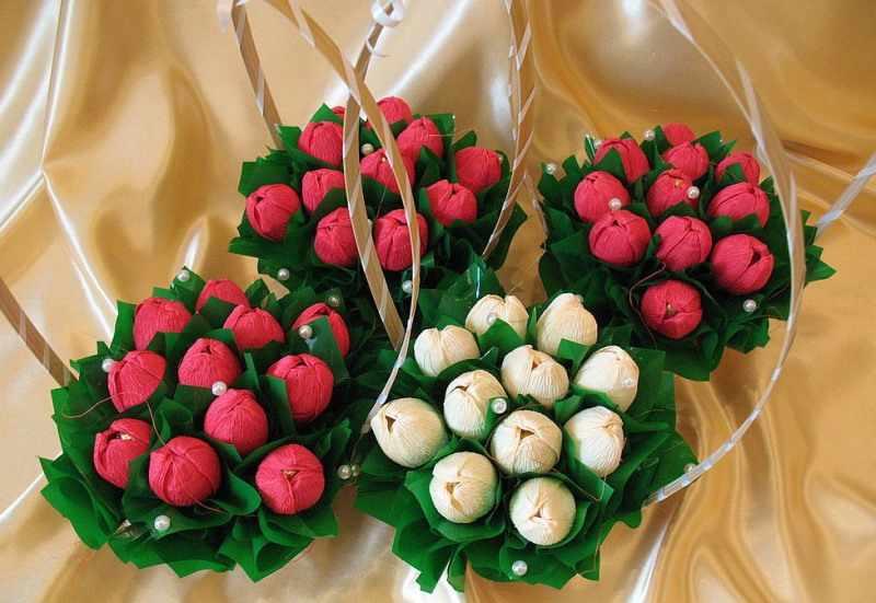Сладкие цветочные корзинки