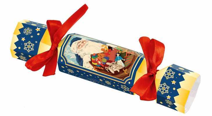 Большая новогодняя конфета «Снеговик»