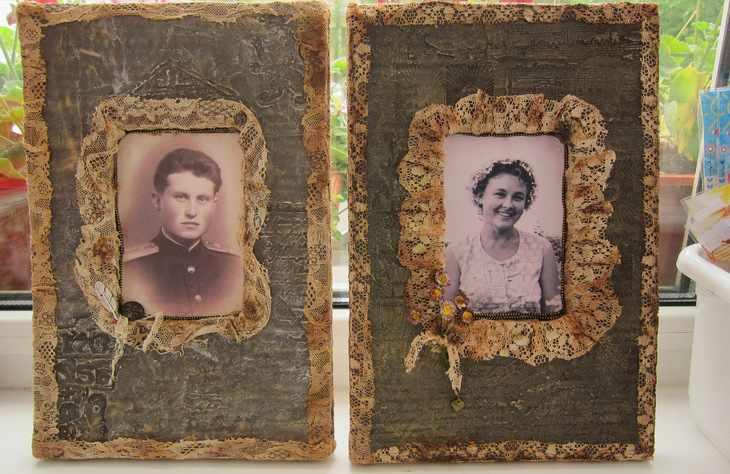 Восстановленное фото в рамке