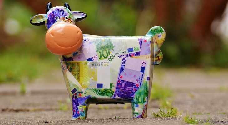 Копилка для денег в виде коровы