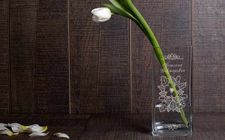 Именная ваза «60 лет»
