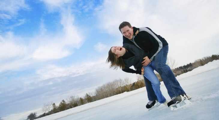 Катание на коньках для двоих