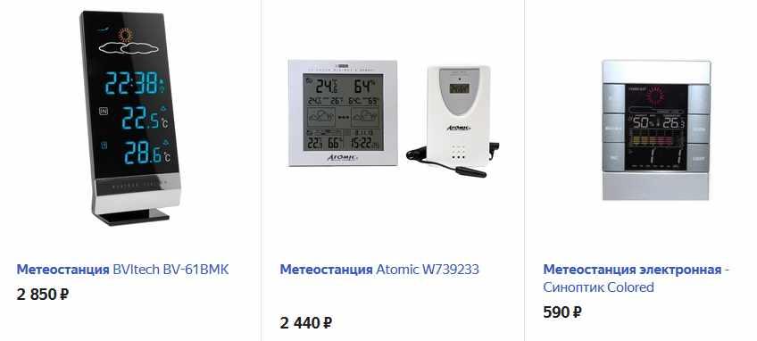 Цифровая электронная метеостанция