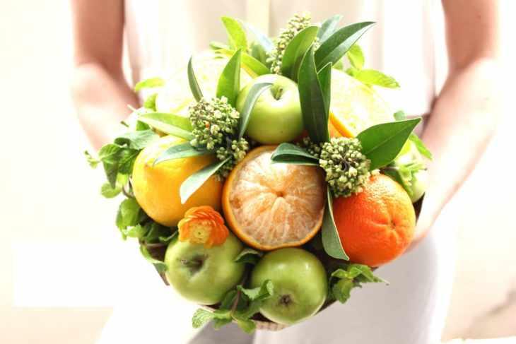 Съедобный букет с овощами