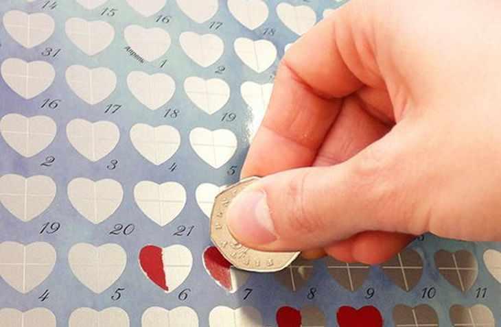 Романтический скретч-календарь