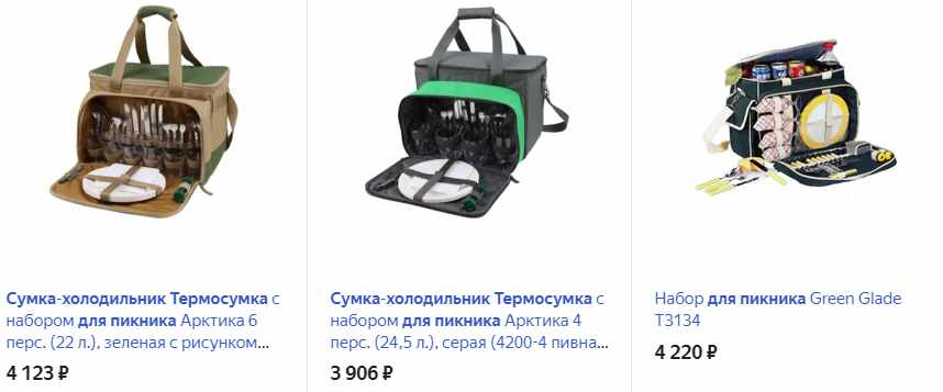 Сумка-холодильник для пикника