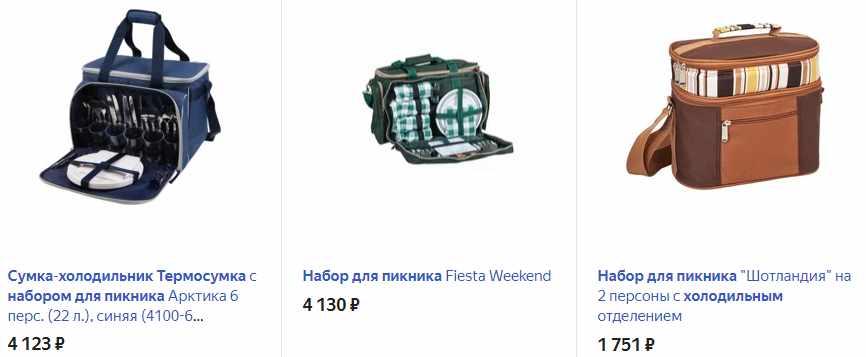 Набор с сумкой-холодильником для пикника