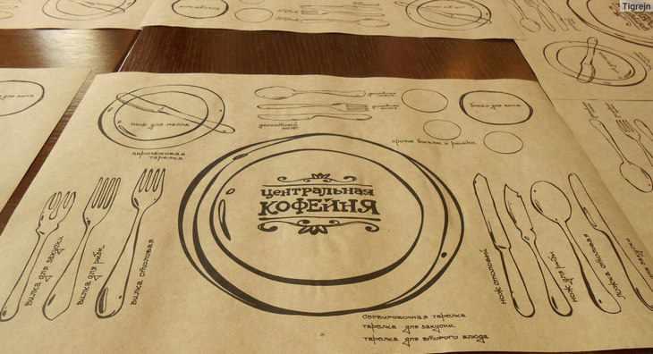 Салфетки для идеального ужина из крафтовой бумаги