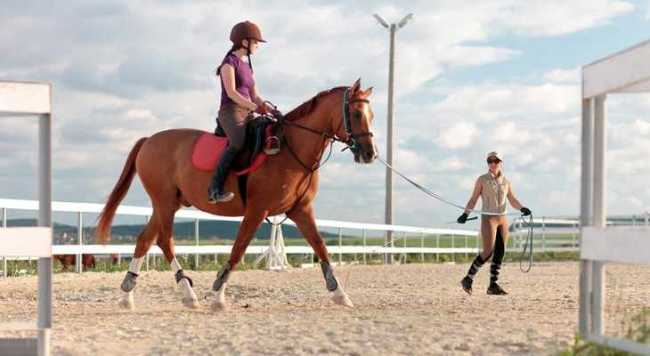 девушка верхом на коне