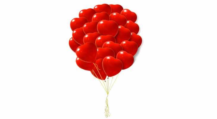 «Букет» шаров в виде сердца