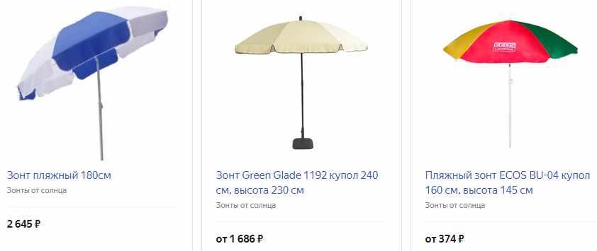 Зонт для тени
