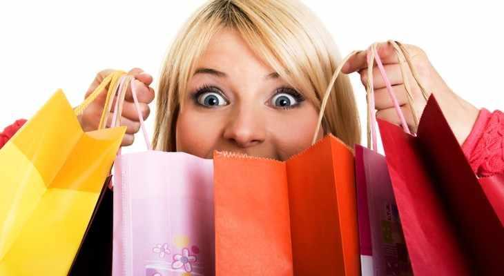 девушка с шопинга