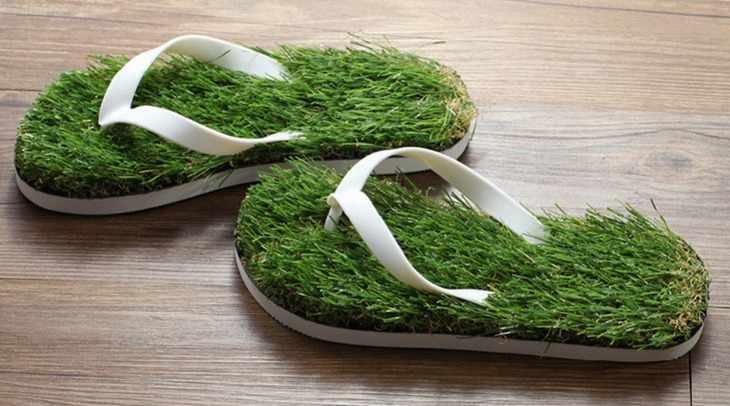 Тапочки-шлепанцы «Трава»