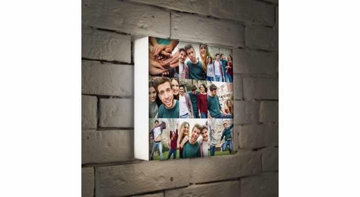 Светильник-коллаж с фотографиями на стену
