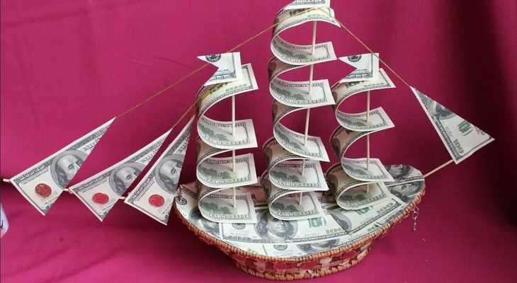 Поделки из денег