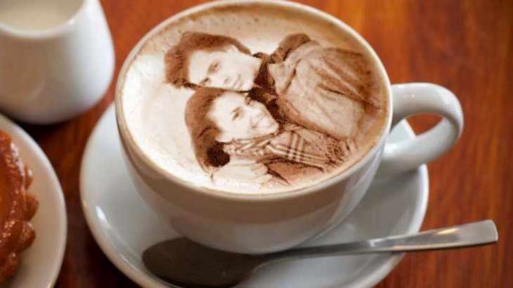 Фото на кофейной пенке